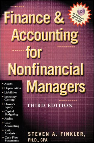 Finance & Accounting For Nonfinancial Managers (With Cd-Rom)
