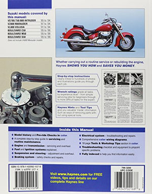 Suzuki Intruder, Marauder, Volusia And Boulevard '85 To '09 (Haynes Service & Repair Manual)