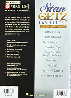 Stan Getz Favorites - Jazz Play-Along Volume 133 (Cd/Pkg) (Hal Leonard Jazz Play-Along)