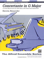 Concertante In G Major: In Three Movements For Solo Piano With Piano Accompaniment, Sheet (The Alfred Ensemble Series)