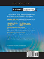Casenote Legal Briefs: Professional Responsibility, Keyed To Martyn & Fox, Third Edition
