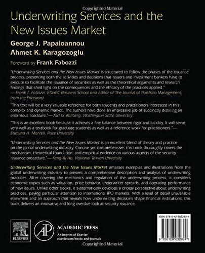 Underwriting Services And The New Issues Market