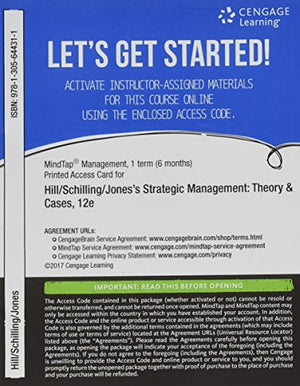 Bundle: Strategic Management: Theory & Cases: An Integrated Approach, Loose-Leaf Version, 12Th + Mindtap Management, 1 Term (6 Months) Printed Access Card