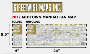 Streetwise Midtown Manhattan Map - Laminated City Street Map Of Midtown Manhattan, New York