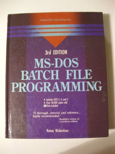 Ms-Dos Batch File Programming