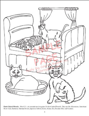 Dogs And Cats Coloring Book (8.5X11)