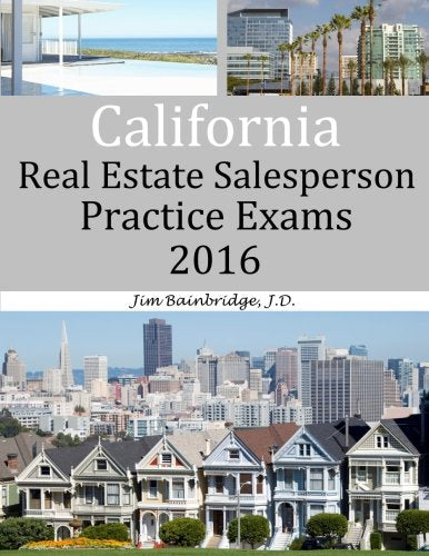 California Real Estate Salesperson Practice Exams For 2016