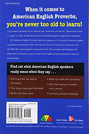 101 American English Proverbs With Mp3 Disc: Enrich Your English Conversation With Colorful Everyday Sayings