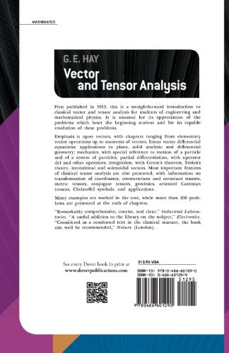 Vector And Tensor Analysis (Dover Books On Mathematics)
