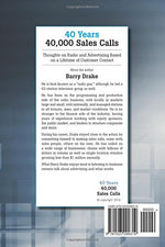 40 Years 40,000 Sales Calls: Thoughts On Radio And Advertising Based On A Lifetime Of Customer Contact