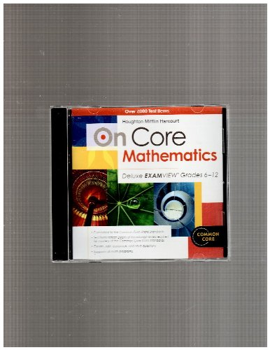 On Core Mathematics: Deluxe Examview Cd-Rom Grades 6-12