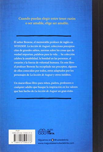 Wonder: El Libro De Los Preceptos Del Seor Browne / Mr. Browne'S Book Of Precepts (Spanish Edition)
