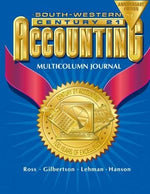 Century 21 Accounting Multicolumn Journal Anniversary Edition, 1St Year Course Chapters 1-26