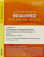 Bundle: An Introduction To Management Science: Quantitative Approaches To Decision Making, 14Th + Cengagenow, 1 Term (6 Months) Printed Access Card