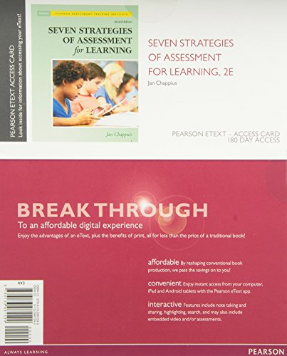Seven Strategies Of Assessment For Learning, Enhanced Pearson Etext -- Access Card (2Nd Edition)
