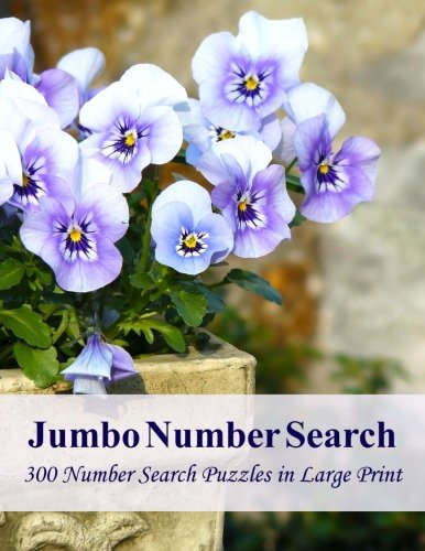 Jumbo Number Search: 300 Number Search Puzzles In Large Print