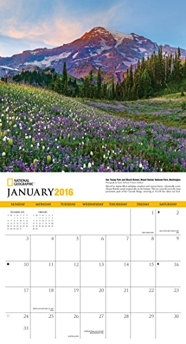 American Landscapes National Geographic 2016 Wall Calendar