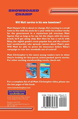 Snowboard Champ (Matt Christopher Sports Classics)