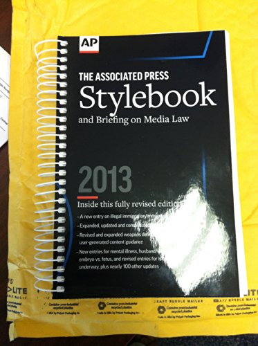 Associated Press Stylebook And Briefing On Media Law, 2013