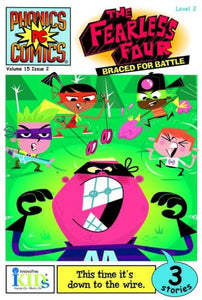 15: Phonics Comics: The Fearless Four: Braced For Battle - Issue 2 Level 2