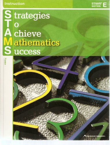 Strategies To Achieve Mathematics Success Stams Series E