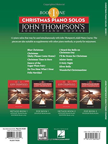 Christmas Piano Solos: John Thompson'S Adult Piano Course (Book 1) - Elementary Level