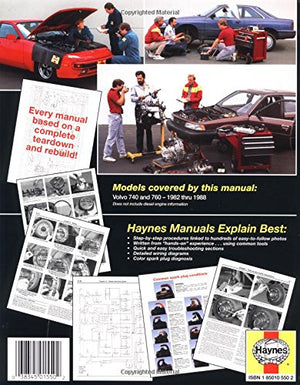Volvo 740 & 760, 1982-1988, All Gasoline Engine Models (Automotive Repair Manual)
