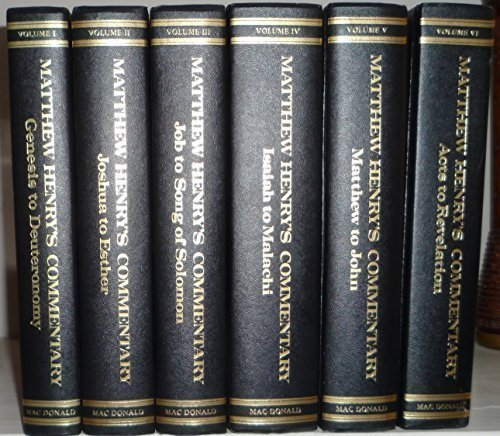 Matthew Henry'S Commentary On The Whole Bible, 6 Volume Set