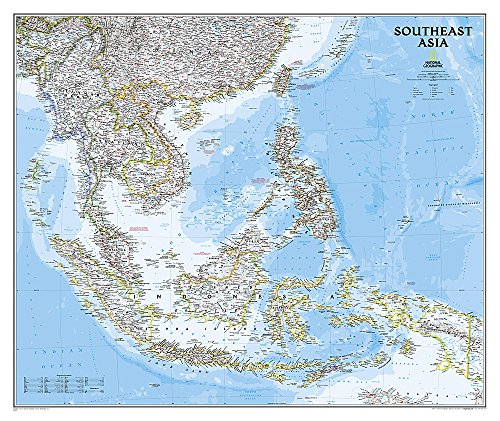 National Geographic: Southeast Asia Classic Wall Map - Laminated (38 X 32 Inches) (National Geographic Reference Map)