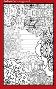 Coloring Journal (Red): Therapeutic Journal For Writing, Journaling, And Note-Taking With Coloring Designs For Inner Peace, Calm, And Focus (100 ... And Stress-Relief While Writing.) (Volume 12)