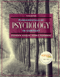 Fundamentals Of Psychology In Context (3Rd Edition)