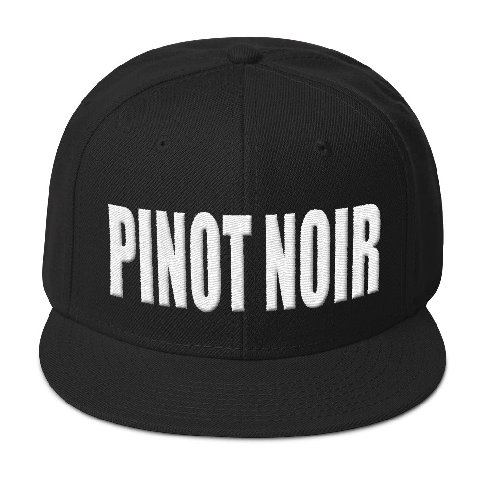 258b4584 Wine Skool'd Skoold Store pinot noir hat black snapback hat front photo ...