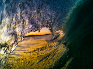 Sunset waves, Lennox Head, By Ben Aboody Photography.