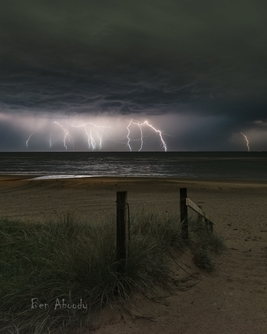 Boat Channel Storm - Ben Aboody Photography