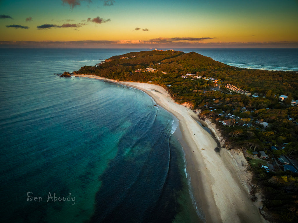 Byron Bay Lighthouse at sunset - Ben Aboody Photography