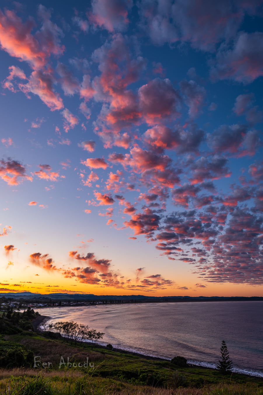 Cotton Candy Clouds, Lennox Head. - Ben Aboody Photography