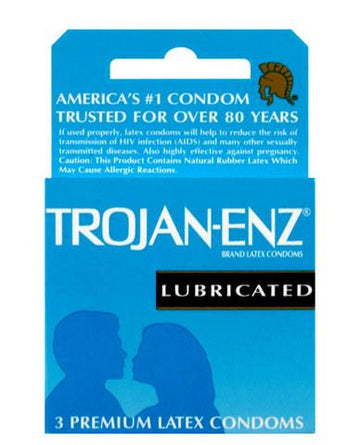 Trojan ENZ Lubricated Condoms - 3 Pack