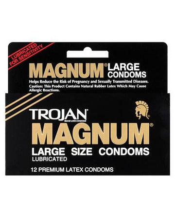 Trojan Magnum Large Size Condoms - 12 Pack