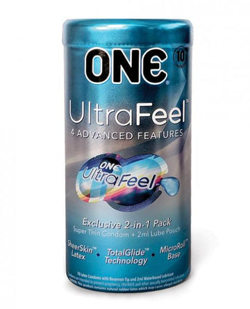 ONE UltraFeel Latex Condoms - 10 Pack