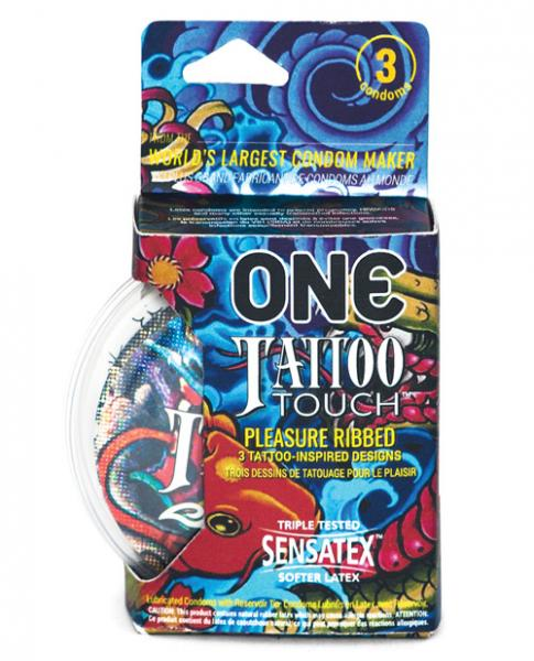 ONE Tattoo Touch Latex Condoms - 3 Pack