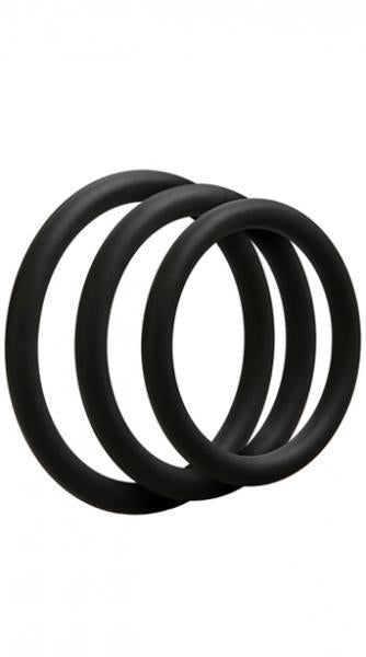 OptiMale 3 Thin C-Ring Set - Black