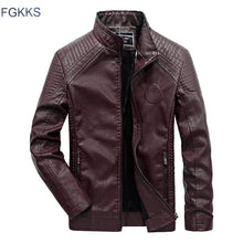 Load image into Gallery viewer, FGKKS Brand Men Leather Jackets 2019 Winter Jacket Male Classic Motorcycle Style Male Inside Thick Coats Men's Leather Jacket