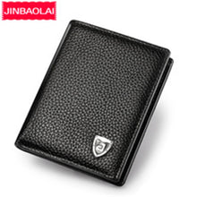 Load image into Gallery viewer, Small Slim Mini Genuine Leather Men Wallet Male Purse Thin Walet Cuzdan Vallet Money Bag For Card Holder Short Kashelek Partmone