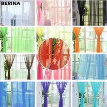 Load image into Gallery viewer, Tulle Curtains for the Kitchen Living Room Solid Sheer Curtains Tulle on the Windows Drapes Window Screen 14001 100x200cm