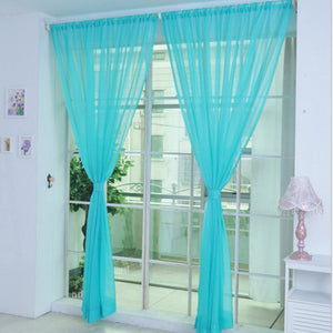 Tulle Curtains for the Kitchen Living Room Solid Sheer Curtains Tulle on the Windows Drapes Window Screen 14001 100x200cm