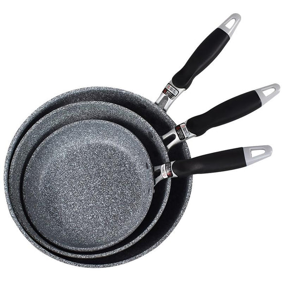 Stone Pan Non-stick Frying Saucepan Large Deep Wok With Anti-scalding Handle Suitable For All Stoves Home kitchen use