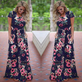 Women Summer Maxi Dress 2019 White Floral Print Boho Beach Dress Ladies Long Evening Party Dress Sundress Vestidos de festa 3XL