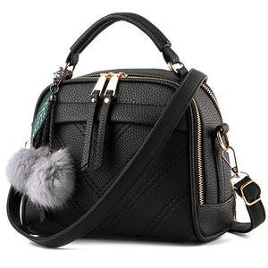 LANLOU bags for women 2019 fashion Hairball women shoulder bag luxury handbags women bags designerCasual crossbody bag for women