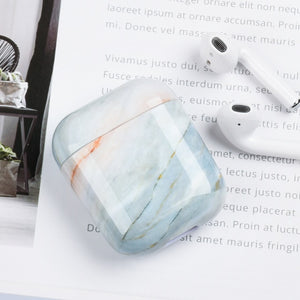 Luxury Marble Pattern Hard PC Case for Apple Airpods Case Protective Cover Bluetooth Wireless Earphone Case Charging Box bags