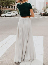 Load image into Gallery viewer, 2019 Vintage Skirts Womens Chiffon Mesh High Waist Solid Color Long Maxi Skirts Pleated Half Length Beach Skirts Autumn Womens